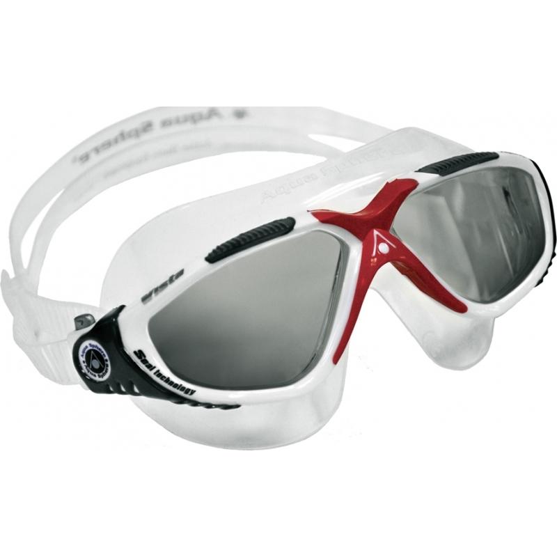 a3566166c8 Aquasphere 172640 Vista Red White - Dark Grey Tinted Swimming Goggles