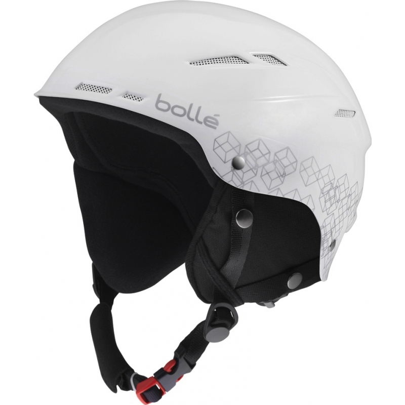 879627b2ec Bolle 30808 B-Rent Shiny White and Silver Ski Helmet - 54-58cm