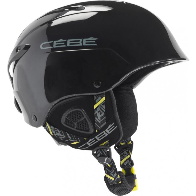 56e9a64c79 Cebe 1172SB5255 Contest Shiny Black Yellow Ski Helmet - 52-55cm