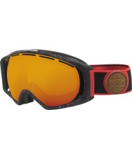Bolle 21458 Gravity Black and Red Splatter - Fire Orange Ski Goggles