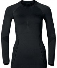 Odlo Ladies Evolution Black Graphite Grey Baselayer Top