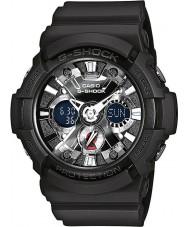 Casio GA-201-1AER Mens G-Shock World Time Black Chronograph Watch