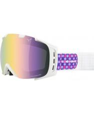 Cebe CBG10 Origins M  Purple Dots - Light Rose Flash Gold Ski Goggles