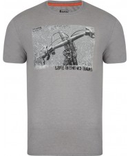 Dare2b DMT320-81I60-M Mens Behind Bars Ash Grey Marl T-Shirt - Size M