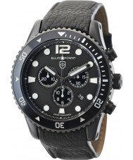 Elliot Brown 929-001-L01 Mens Bloxworth Black Leather Strap Chronograph Watch