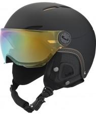 Bolle Juliet Visor Soft Black and Gold Ski Helmet