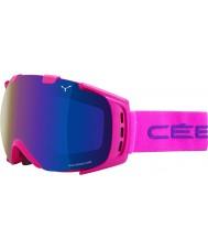 Cebe CBG11 Origins M Pink - Brown Flash Blue Ski Goggles
