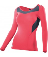 2XU Ladies PWX Tangerine Compression Long Sleeve Top