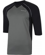 Dare2b Mens Dialed In Smokey Black Jersey T-Shirt