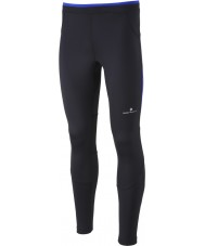 Ronhill RH000083-R400-XL Mens Advance Black Cobalt Contour Run Tights - Size XL