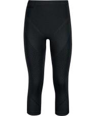 Odlo Ladies Evolution Black Graphite Grey Three-quarter Baselayer Pants