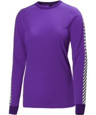 Helly Hansen 48218-107-L Ladies Dry Original Sunburned Purple Baselayer - Size L