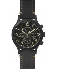 Timex TW4B09100 Mens Expedition Black Leather Strap Watch