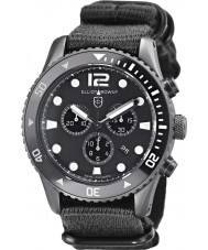 Elliot Brown 929-001-N02 Mens Bloxworth Black Fabric Strap Chronograph Watch