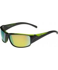 Bolle Keelback Shiny Black Green Polarized Brown Emerald Sunglasses
