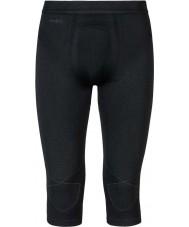 Odlo Mens Evolution Black Graphite Grey Three-quarter Baselayer Pants