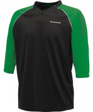 Dare2b Mens Dialed In Black Green Jersey T-Shirt