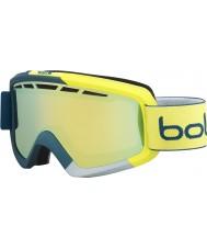 Bolle 21470 Nova II Matte Blue and Yellow - Citrus Gold Ski Goggles