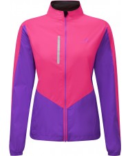 Ronhill RH-001473RH00179-12 Ladies Vizion Fluo Pink Lilac Windlite Jacket - Size UK 12 (M)