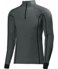 Helly Hansen 48852-899-XS Mens Warm Freeze Rock Grey Half Zip Baselayer - Size XS