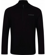 Dare2b Mens Fuseline III Black Stretch Midlayer