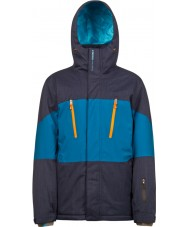 Protest Mens Insider Ground Blue Snow Jacket