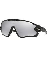 Oakley OO9290-19 Jawbreaker Polished Black - Chrome Iridium Vented Sunglasses