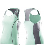 2XU Ladies Active Green Mist Tri Singlet