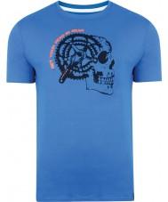 Dare2b DMT324-9PR40-XS Mens Gearhead Skydiver Blue T-Shirt - Size XS
