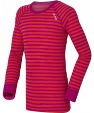 Odlo 10459-70244-104 Kids Crew Neck Violet-Pink Baselayer Top - 3-4 years (104 cm)