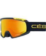 Cebe CBG100 Fanatic M Blue and Yellow - Orange Flash Fire Ski Goggles