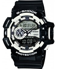 Casio GA-400-1AER Mens G-Shock White Black Chronograph Watch
