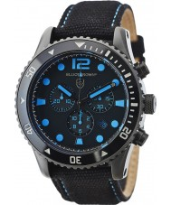 Elliot Brown 929-006-C02 Mens Bloxworth Black Fabric Chronograph Watch
