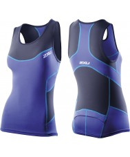 2XU Ladies Navy Blue Compression Tri Singlet