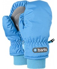 Barts 0606404-BLU-6-8 Kids Blue Nylon Mittens - 6-8 years