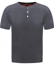 Dare2b Mens Button Up Ebony Marl T-Shirt