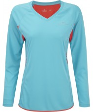 Ronhill RH05251-R00042-14 Ladies Aspiration Hawaii Fire Long Sleeve Top - Size L (14)