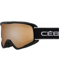 Cebe CBG103 Striker L Full Black - Orange Flash Mirror Ski Goggles