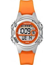 Timex TW5K96800 Ladies Marathon Mid Size Orange Resin Chronograph Strap Watch