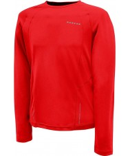 Dare2b Mens Relay Fiery Red Long Sleeve Top