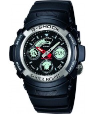 Casio AW-590-1AER Mens G-Shock Black Chronograph Sports Watch