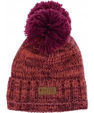 Picture B122P4 Ladies Ale Purple Salmon Beanie