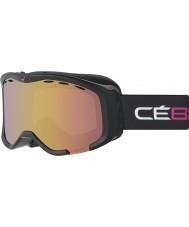 Cebe CBG111 Cheeky OTG Black and Pink - Light Rose Flash Gold Ski Goggles