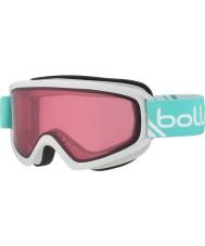 Bolle 21489 Freeze Shiny White and Mint - Vermillon Ski Goggles