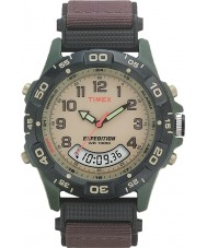 Timex T45181 Mens Cream Brown Expedition Combo Watch