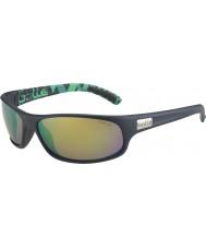 Bolle Anaconda Matt Blue Green Polarized Brown Emerald Sunglasses