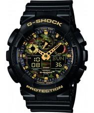 Casio GA-100CF-1A9ER Mens G-Shock Black Chronograph Watch