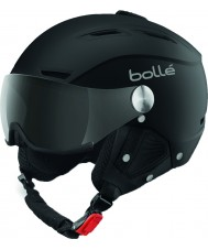 Bolle 31253 Backline Visor Soft Black and Silver Ski Helmet with Grey Visor - 59-61cm
