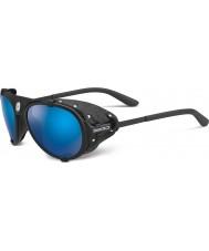 Cebe Lhotse Matt Black Blue Mirror Sunglasses