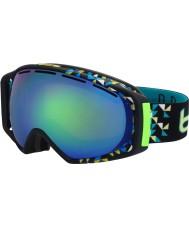 Bolle 21154 Gravity Black Diagonal - Green Emerald Ski Goggles
